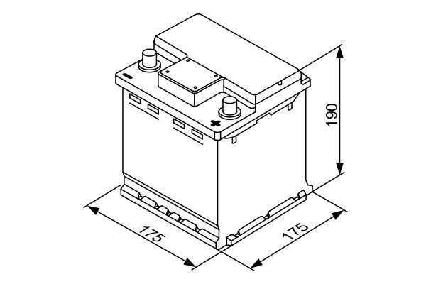Starterbatterie BOSCH 0 092 S40 001