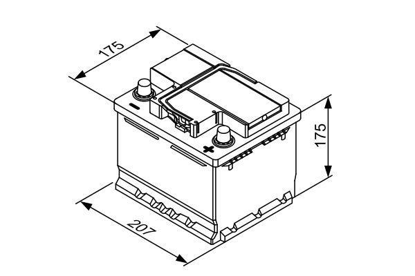 Starterbatterie BOSCH 0 092 T30 010