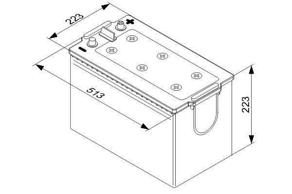 Starterbatterie BOSCH 0 092 T40 770