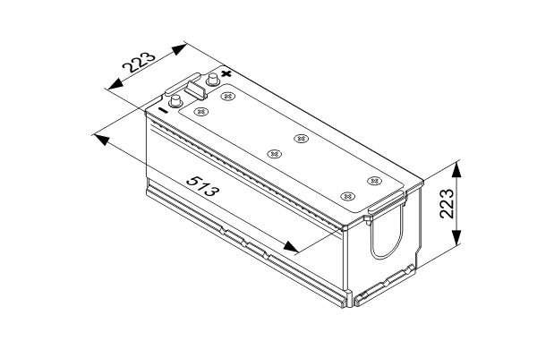 Starterbatterie BOSCH 0 092 T40 780