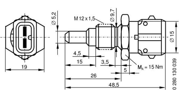 Sensor K 252 Hlmitteltemperatur Bosch 0 280 130 039 2k1vzw54