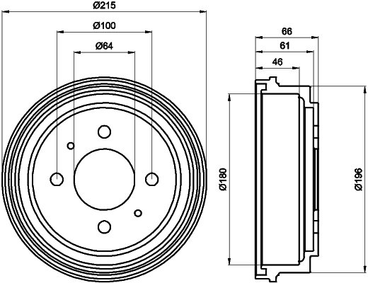 Bremstrommel TEXTAR 94025900