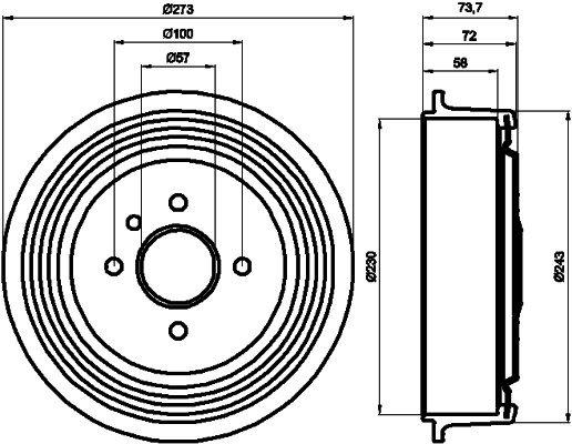 Bremstrommel TEXTAR 94031800