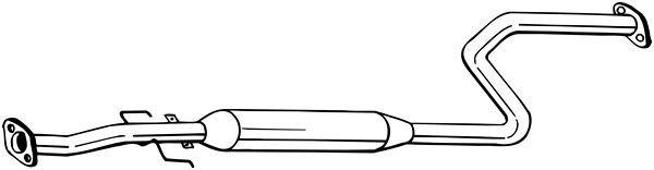 Mittelschalldämpfer BOSAL 284-667