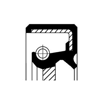 Wellendichtring, Differential CORTECO 19027628B Bild 1