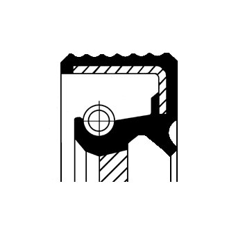 Wellendichtring, Kurbelwelle CORTECO 12013896B Bild 1