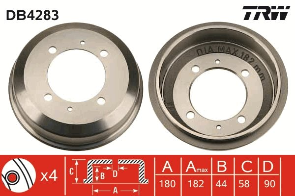 Bremstrommel TRW DB4283